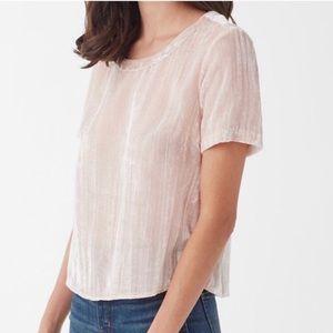 Splendid Moonstone Tee Velvet Short Sleeve Pink M